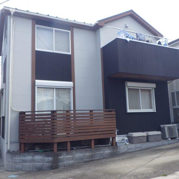 藤沢市の外壁塗装で塩害に強い水性無機塗料使用