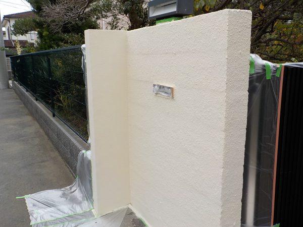 茅ケ崎市にて門壁の補修工事
