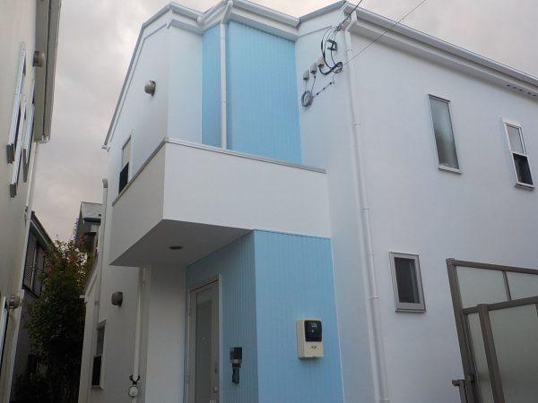 藤沢市で水性無機塗料を使用して外壁屋根塗装