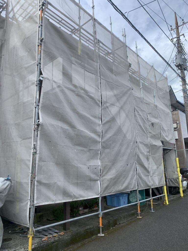 藤沢市でアパートの外壁塗装工事